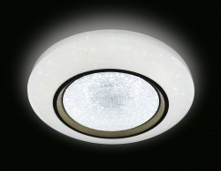 Управляемый светильник Ambrella light FS1233 WH/SD 48W D390 ORBITAL CRYSTAL SAND