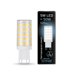 Лампа Gauss LED 107309205 G9 220V 5W(510lm) 4100 4K