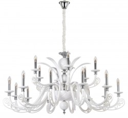 Люстра Crystal Lux LETISIA SP12+6 WHITE