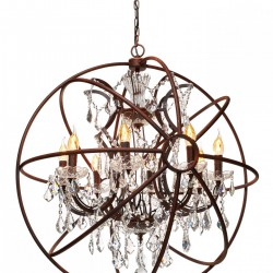 Люстра подвесная LOFT IT LOFT1897/8 Foucaults orb crystal