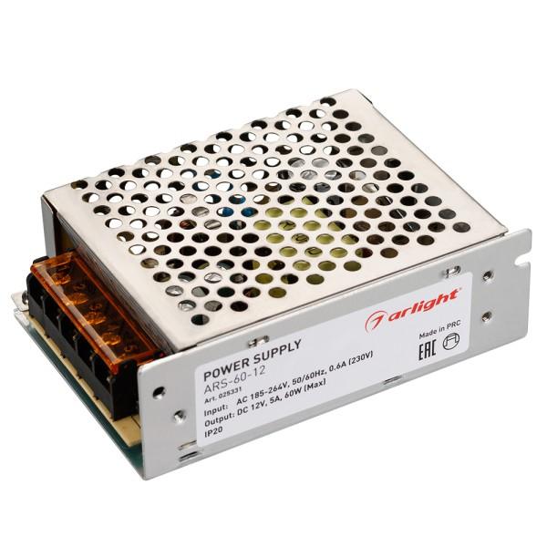 Блок питания Arlight ARS-60-12 (12V, 5A, 60W) 025331