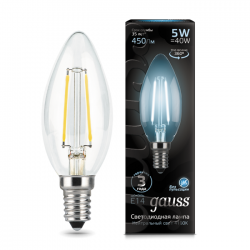 Лампа Gauss 103801205 Filament Candle E14 5W 4100K